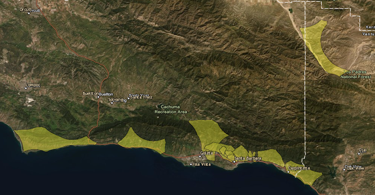 Santa Barbara County Removed from Power Shut Off List