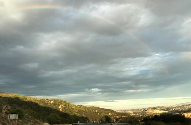 Rainbows in Santa Ynez Valley title=