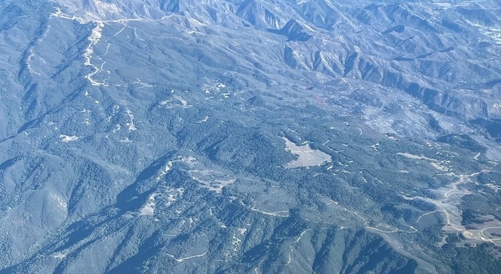Aerial View of Reagan Ranch and Alisal Fire