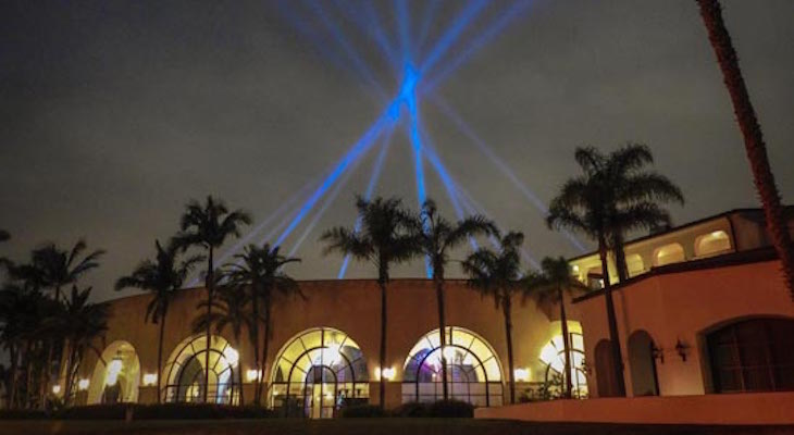 Light Show over Fess Parker Doubletree