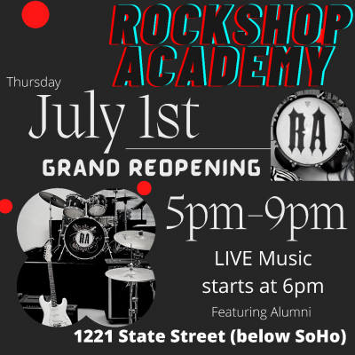 ROCKSHOP ACADEMY GRAND RE-OPENING title=