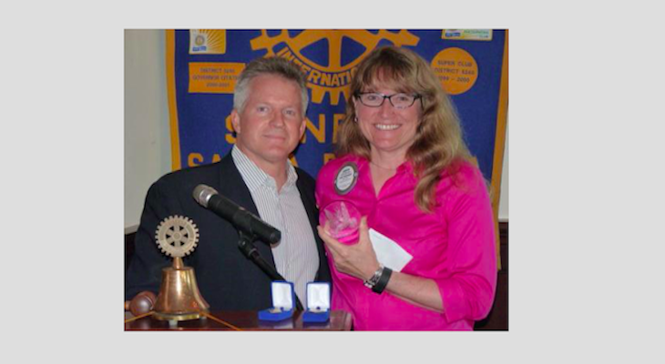 Judith McCaffrey Recognized as a Rotary Major Donor
