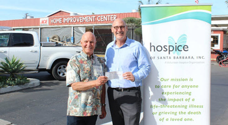$10,000 Raised for Hospice at Ace Hardware
