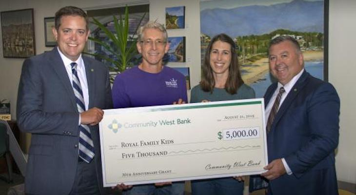 Community West Bank Awards $30,000 to Local Non-Profits