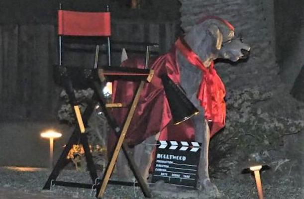 Santa Barbara Dog Statue Loves Film