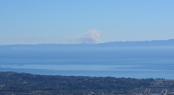 Santa Cruz Island Fire at 250 Acres