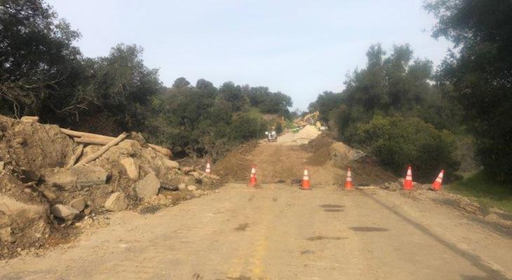 Highway 154 Reopens Friday, Ahead of Schedule