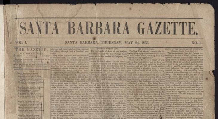 Santa Barbara Gazette Now Digitzed