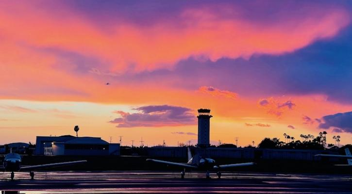 Progressive Sunset Over the Airport
