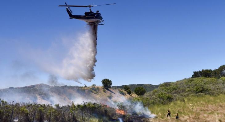 Three Acre Brush Fire Along Highway 1