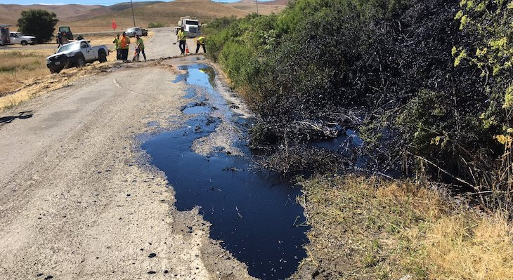 Crude Oil Spill in Santa Maria
