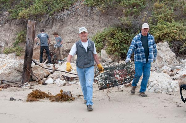 Volunteers Cleared Lobster Traps from Local Beaches