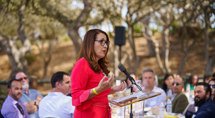 SB Unified  Superintendent Dr. Hilda Maldonado at the Love of Literacy Luncheon title=