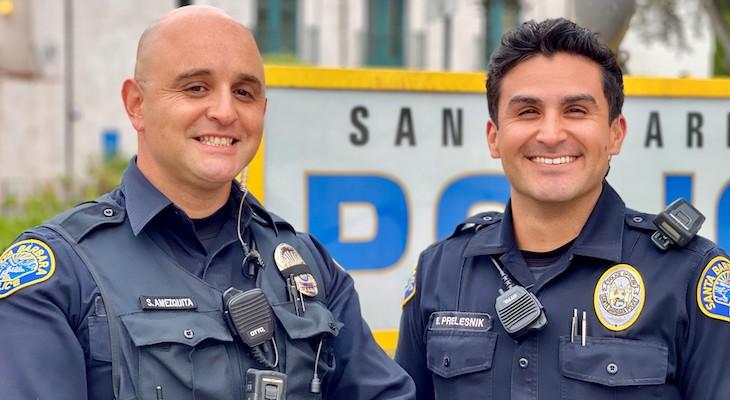 Officer Amezquita (L) Officer Prelesnik (R)