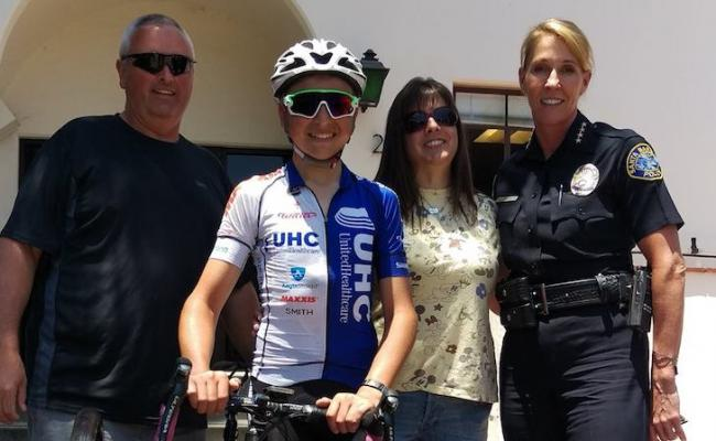 16-year-old Cycles Across California to Raise Awareness for Fallen Officers title=