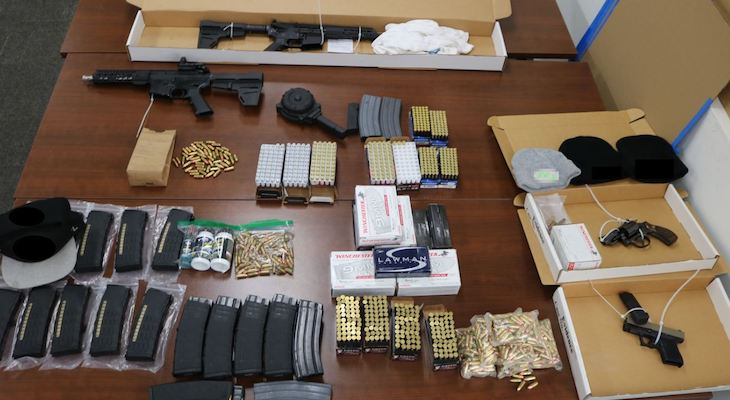 Seized evidence from suspect's search warrants (Photo: SBPD)