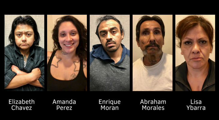 Narcotics Detectives Make 5 Felony Arrests and Seize Half-Pound of Meth title=