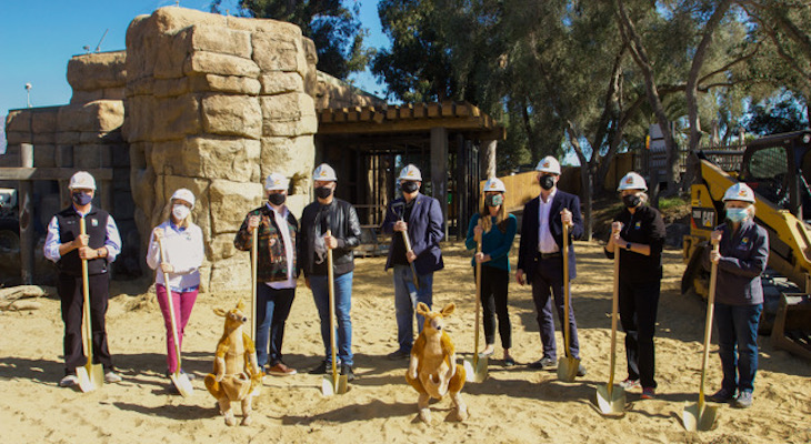"Santa Barbara Zoo Breaks Ground ""Down Under"" title="