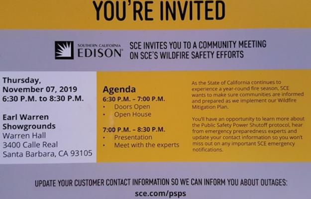 SCE Community Meeting on Wildfire Safety title=