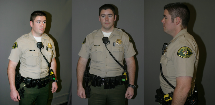 Investigators have interviewed and photographed Deputy Jeremy Rogers after each of his deadly shootings. | Credit: Courtesy title=