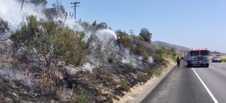 1/4 Acre Brush Fire Contained Near El Capitan
