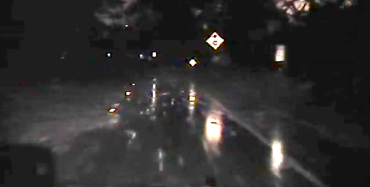 CHP Dashcam Video of Montecito Mudslide