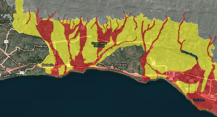 Pre-Evacuation Advisory for Parts of Santa Barbara County