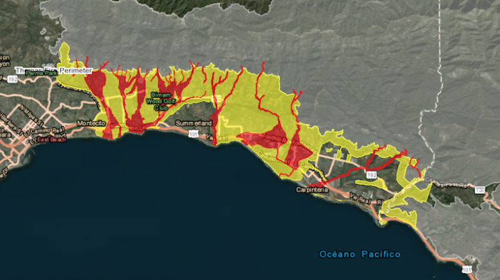 Mandatory Evacuations Lifted for Santa Barbara County