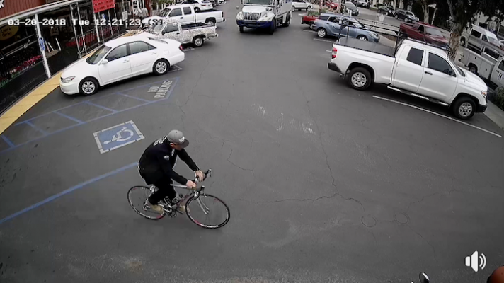 Bicycle Theft Caught on Camera