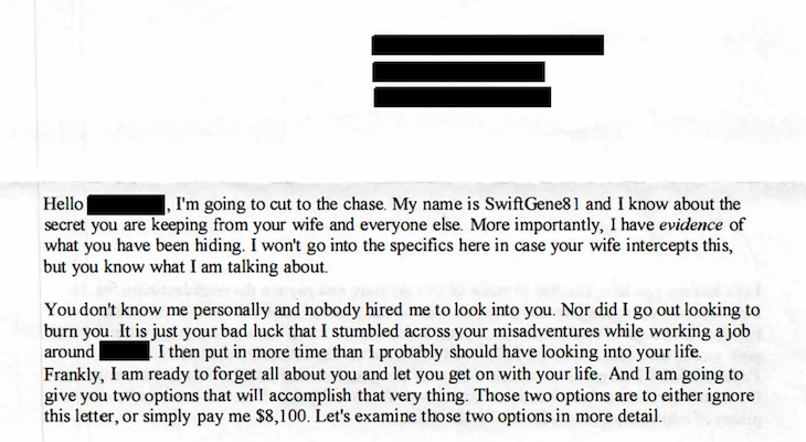 Extortion Letter Scam Reaches Santa Barbara
