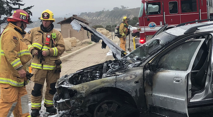 Rincon Smoke Caused by Car Fire