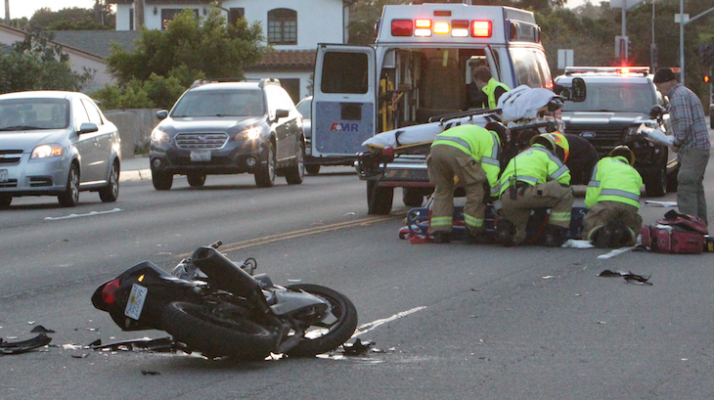 Motorcycle Collision on Cliff Drive title=
