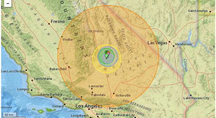 6.4 Magnitude Earthquake Strikes California title=