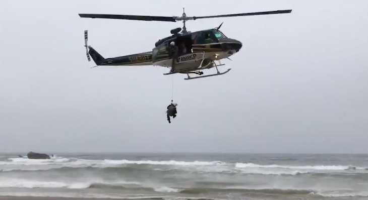 Helicopter Evacuates Injured Elderly Man from Guadalupe Dunes title=