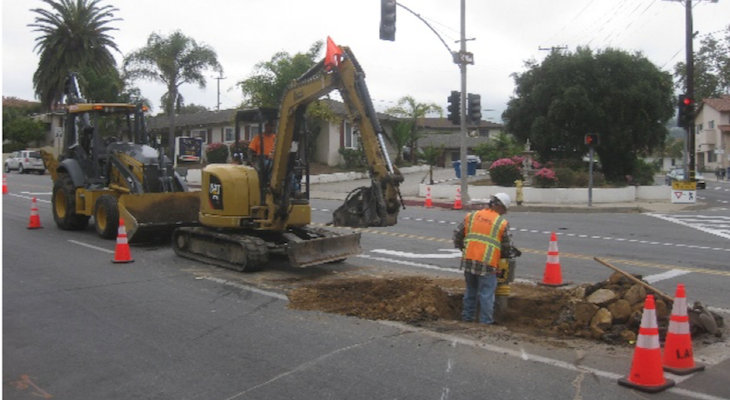 Water Main Replacement on Alamar title=