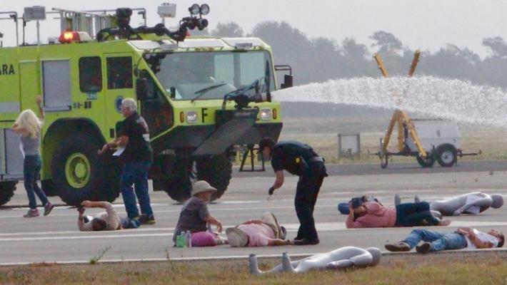 Disaster Drill at Santa Barbara Airport