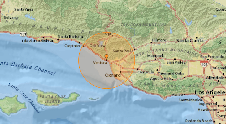 More Earthquakes Hit Ventura Friday Morning title=