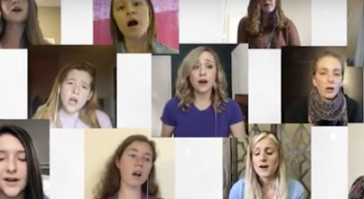 Local Woman with Cystic Fibrosis Performs in International Virtual Choir title=