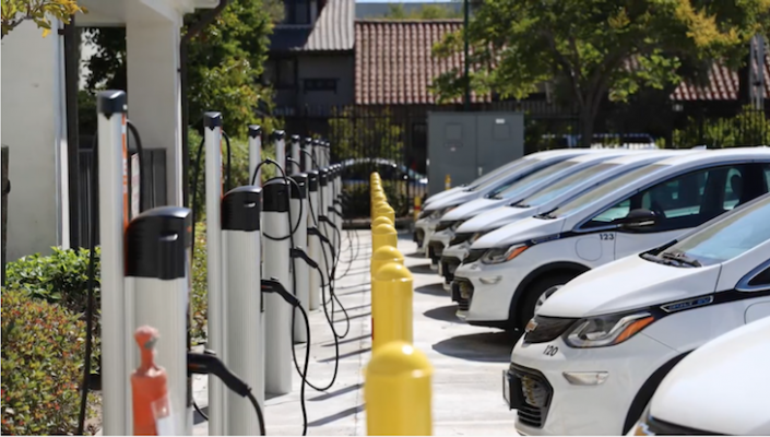MTD Installs Electric Vehicle Chargers & Transitions District Cars to All-Electric Chevy Bolts title=