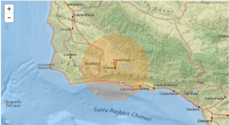 3.8 Earthquake in Santa Ynez Saturday
