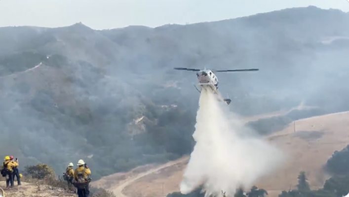 Brush Fire Stopped at 24 Acres Near Lompoc title=