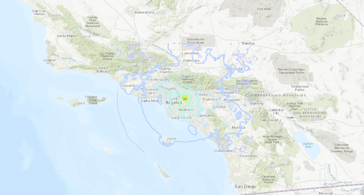 Los Angeles Earthquake Felt In Santa Barbara