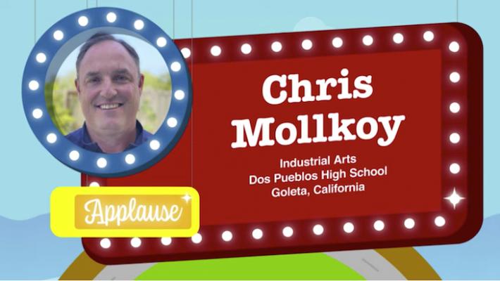 Chris Mollkoy named Prize Winner in Harbor Freight's Teacher Contest