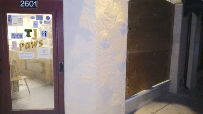 Pet Groomer Building Vandalized