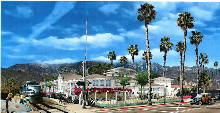 Artistic rendering of the Surfliner Inn Project (courtesy photo)