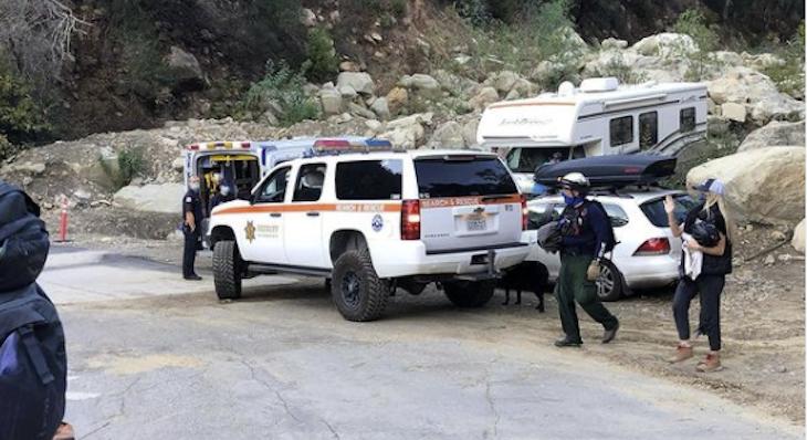 Montecito Fire Rescues Hiker on Romero Trail