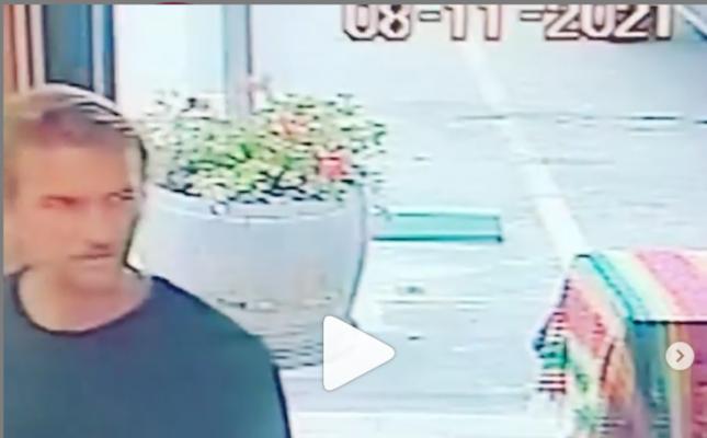 Video screenshot of the vandalism suspect (Photo: Instagram)