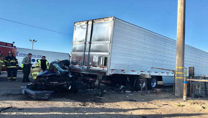 Two Fatalities After Vehicle, Semi-Truck Collide in Guadalupe