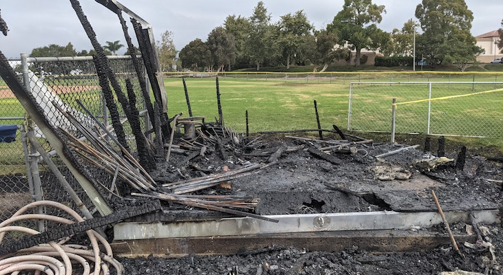 Goleta Donates $5,000 to Replace Baseball Equipment Destroyed in Arson Fire
