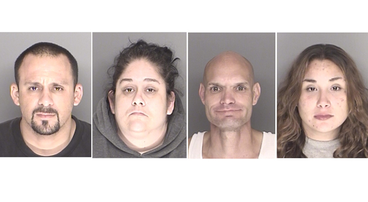 Pursuit of Wanted Subject Leads to Four Arrests